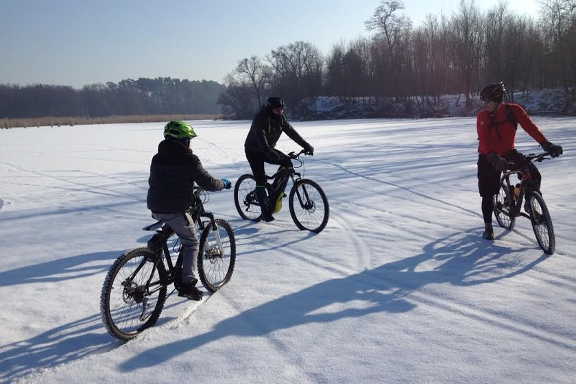 Bez korčulí na jazere_Fatbike